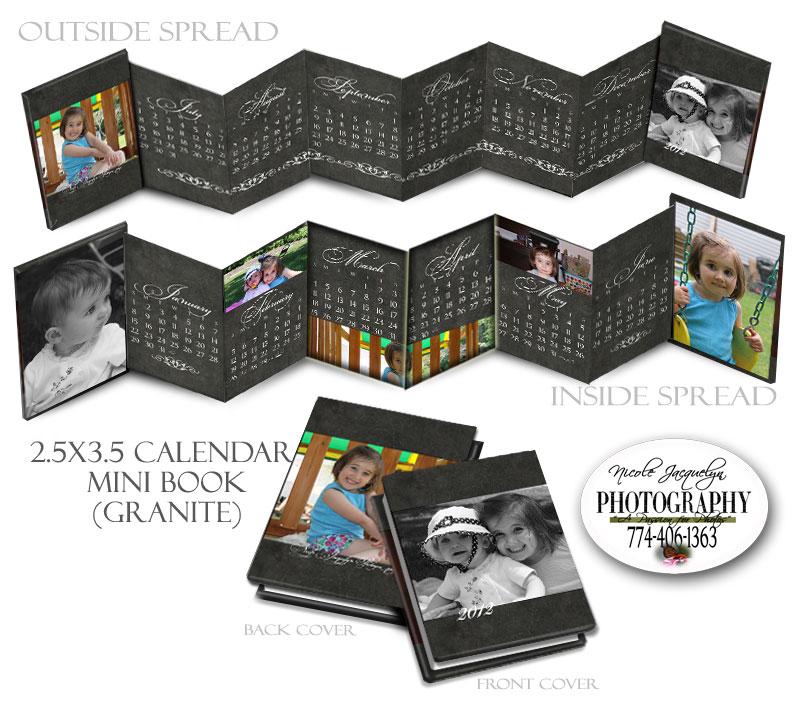"12 Month Calendar Wallet ""Granite"""
